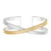 Anna_Beck_handmade_bangle_mixed_metal_gold_plating_sterling_silver_cross_bracelet