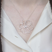 Tina_Kotsoni_sterling_silver_large_flower_necklace_handmade_jewellery_abstract_Greece