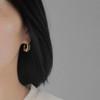 Botanic_garden_gold_plating_sterling_silver_jade_stone_earrings_hoops_peas_in_a_pod_handmade