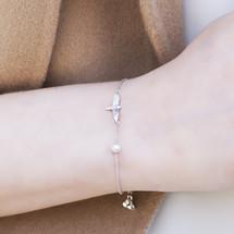 Shi_Kou_Er_Jiong_sterling_silver_bird_bracelet_handmade_China_freshwater_pearl_delicate