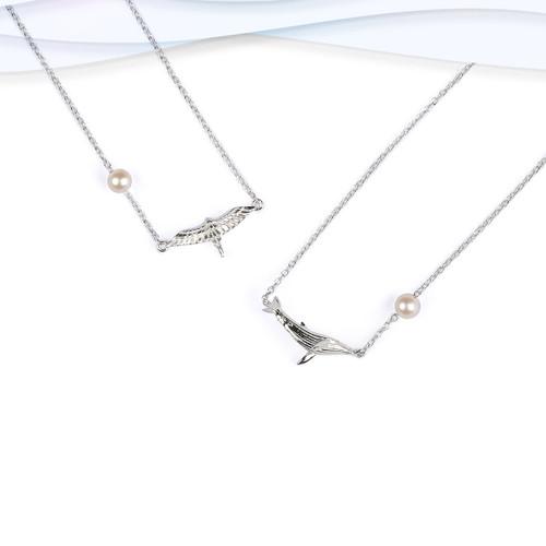 Shi_Kou_Er_Jiong_sterling_silver_whale_necklace_handmade_delicate_sea_life-China