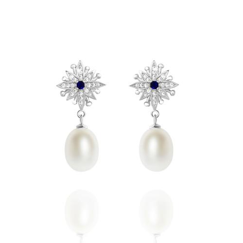 Freshwater_pearl_drop_earrings_bridal_jewellery_bridesmaids_jewellery_vintage_styled_rustic_whimsical