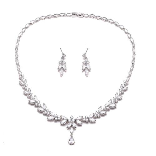 Nora_necklace_earrings_jewellery_set_statement_floral_leafy_bridal_jewellery_weddding_jewellery
