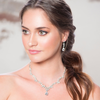 sparkle leafy diamante drop earrings bridal wedding jewellery set