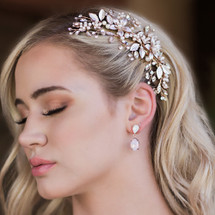 En_Vogue_hair_clip_rose_gold_flowers_leafy_bridal_hair_accessories_Ozzy
