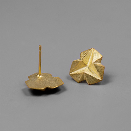 earrings_studs_gold_plating_sterling_silver_geometric_triangle