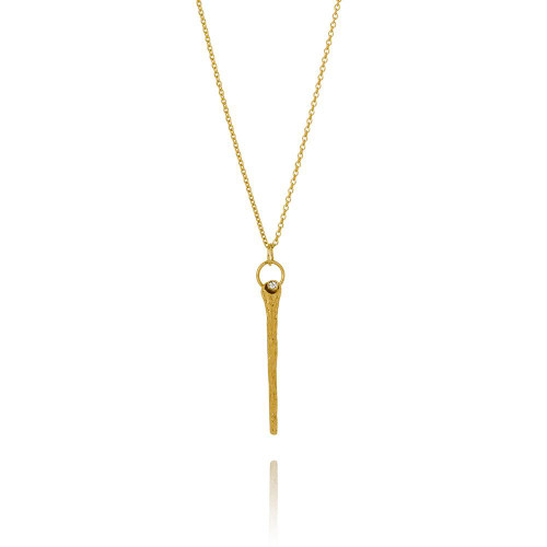 Aurum_Iceland_sterling_silver_gold_plated_necklace_long_thin_Swarovski_crystal_delicate_handmade