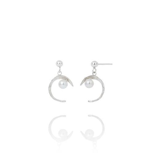 Aurum_Iceland_handmade_jewellery_earrings_sterling_silver_Swarovski_pearls_KOLKA
