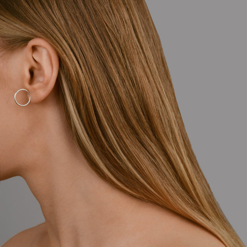 Akvile_Su_recycled_sterling_silver_modern_hoop_stud_earrings_handmade_Edinburgh