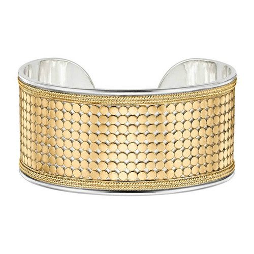 Anna Beck - Sterling Silver Gold Vermeil Medium Cuff Bangle
