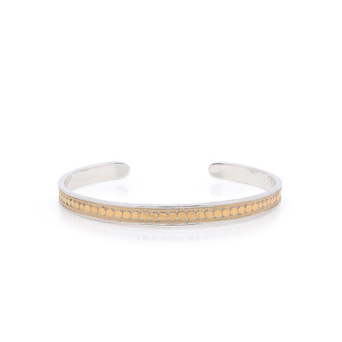 Sterling Silver Gold Plated Skinny Bangle Cuff