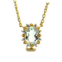 Hakuna_Japan_handmade_jewellery_necklace_green_Amethyst_stone_gold_plating_sterling_silver