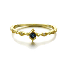 Hakuna_Japan_handmade_jewellery_ring_delicate_thin_band_gold_plating_sterling_silver_sapphire_blue_stone