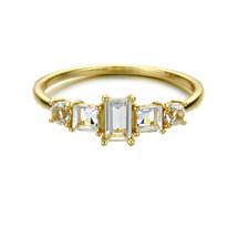 Hakuna_Japan_handmade_jewellery_gold_plating_sterling_silver_princess_cut_thin_band