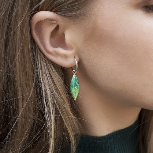 Holly_Suzanna_Clifford_sterling_silver_painterly_drop_earrings_hoops_handmade_hand_painted_blue_green_small_ellipse