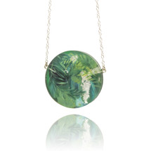 Holly_Suzanna_Clifford_handmade_jewellery_necklace_disk_botanical_leafy_green_blue_hand_painted
