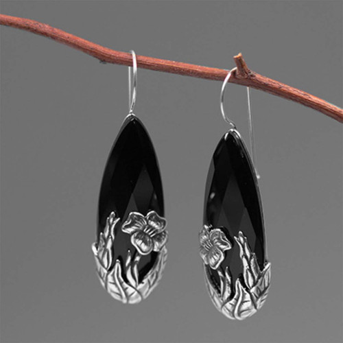 sterling_silver_black_onyx_stones_statement_earrings_large_statement_botanic_garden_collection