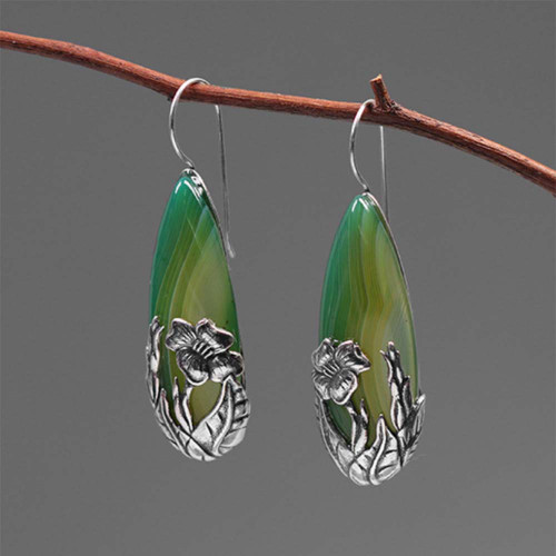 sterling_silver_green_agate_stones_earrings_statement_large_handmade_botanical
