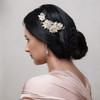 bridal_hair_accessories_hair_clip_fabric_flowers_gold_bridesmaids_hair_accessories_leafy_handmade