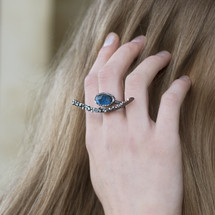 oxidised_sterling_silver_blue_topaz_stone_hammered_handmade_Greece_Greek_Tina_Kotsoni_ring
