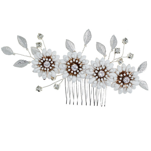 hair_comb_bridal_hair_accessories_wedding_accessories_floral_flowery_leafy_silver_bohemian_rustic