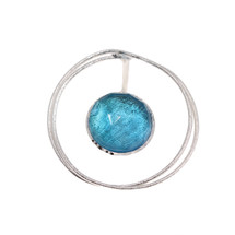 handmade_jewellery_Tina_Kotsoni_Greece_sterling_silver_blue_topaz_stone_circle_statement_unique