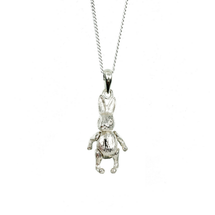 LILY BLANCHE Sterling Silver Baby Rabbit Bunny Necklace Pendant