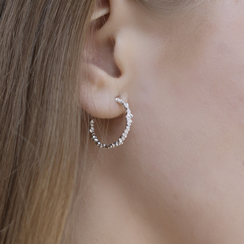 Mounir_London_sterling_silver_small_hoop_earrings_handmade_textured_everyday_wear