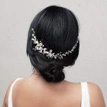 handmade_bridal_hair_vine_diamante_flowers_asymmetrical_leafy_floral_wedding_romantic_delicate