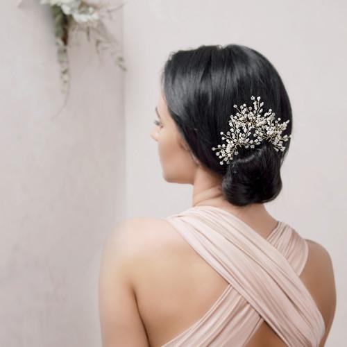 spray of pearls hair pin, bridal hair pins