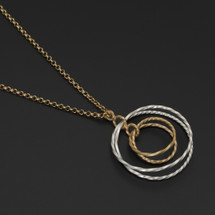 Deco_Echo_handmade_jewellery_necklace_gold_plating_sterling_silver_circles_double_loop_pendant_handmade_jewellery_from_poland