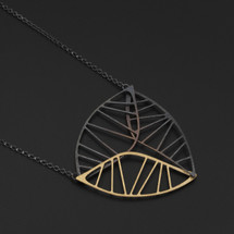 Deco_Echo_handmade_jewellery_necklace_pendant_gold_plating_sterling_silver_copper_geometric_handmade_in_Poland