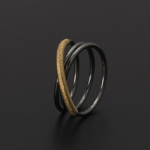 Deco_Echo_handmade_jewellery_ring_oxidised_sterling_silver_gold_plating_circles_cross_minimalist_made_in_Poland