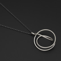 Deco_Echo_handmade_jewellery_from_Poland_necklace_pendant_sterling_silver_oxidised_silver_twisted_circles_circular_statement