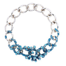 Simon_Harrison_jewellery_statement_necklace_chunky_chain_necklace_blue_silver_Swarovski_crystals_Coral_collection