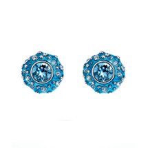 Simon_Harrison_jewellery_statement_earrings_studs_blue_Swarovski_crystals_Coral_collection_chunky