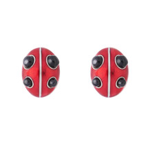 Simon_Harrison_jewellery_ladybird_collection_ studs_earrings_sterling_silver_enamel_red_black_ladybug_chunky
