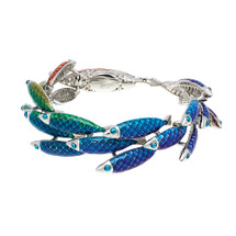 Simon_Harrison_jewellery_Electra_collection_fish_fishes_bracelet_bangle_stainless_steel_enamel_ocean_inspired_rainbow_coloured_bright_colourful