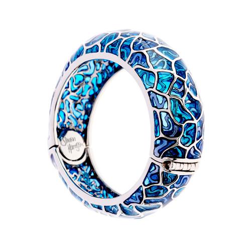 Simon_Harrison_jewellery_London_bracelet_bangle_fashion_jewellery_statement_chunky_blue_see_through_Transformation_collection