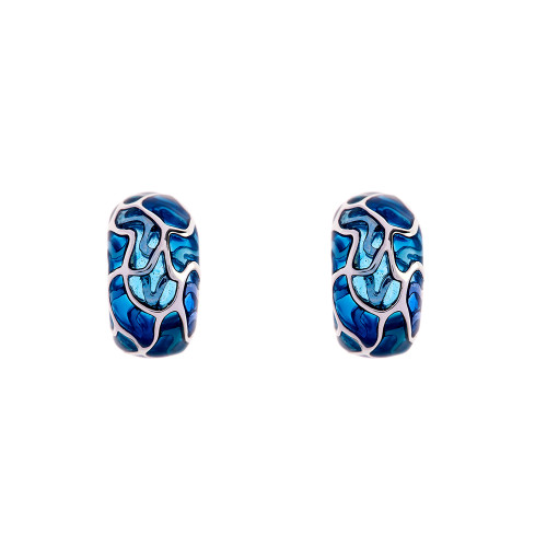 Simon_Harrison_jewellery_London_earrings_Transformation_collection_blue_see_through_statement_chunky_white_metal_enamel_rhodium_plating_curve