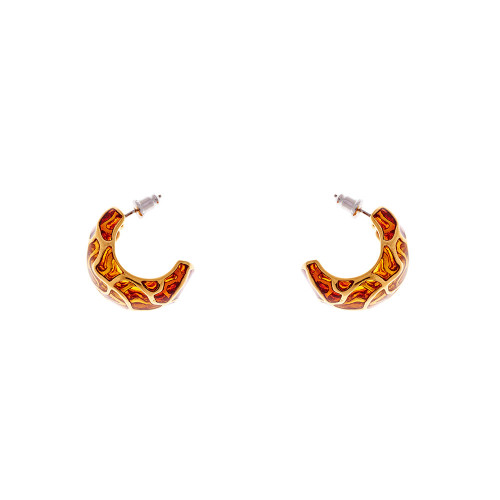 Simon_Harrison_jewellery_London_earrings_Transformation_collection_gold_yellow_see_through_statement_chunky_white_metal_enamel_rhodium_plating_curve