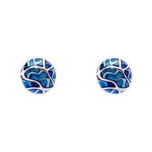 Simon_Harrison_jewellery_London_earrings_studs_Transformation_collection_blue_see_through_white_metal_rhodium_plating_enamel