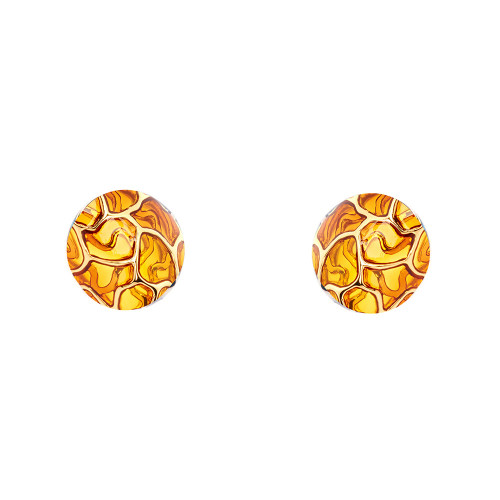 Simon_Harrison_jewellery_London_earrings_studs_Transformation_collection_yellow_gold_see_through_white_metal_rhodium_plating_enamel
