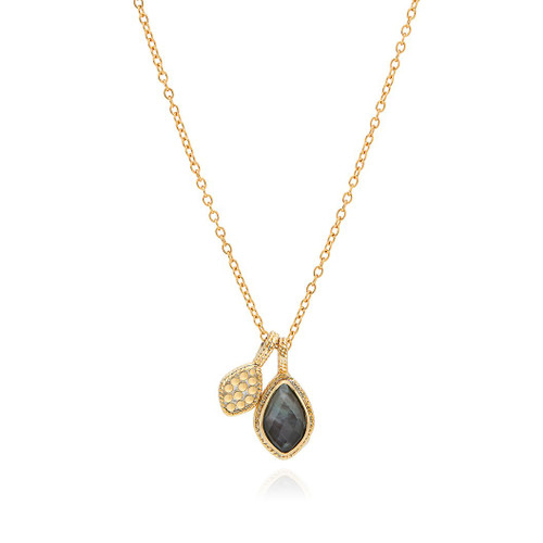 Anna_Beck_handmade_jewellery_necklace_pendant_grey_quartz_double_drop_gold_plating_sterling_silver_reversible