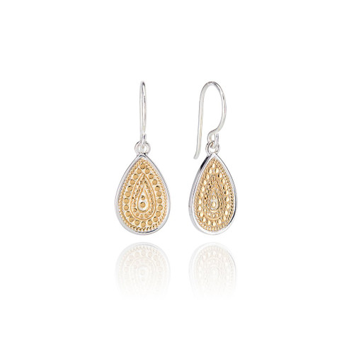 Anna_Beck_handmade_jewellery_earrings_drop_dangle_teardrop_dotted_gold_plating_sterling_silver
