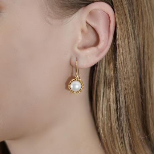 Mounir_London_handmade_jewellery_sterling_silver_gold_plated_earrings_freshwater_pearls_ivory_drop_dangle_granulation