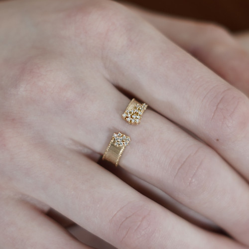 Hakuna_Japan_handmade_jewellery_ring_sterling_silver_gold_plated_cubic_zirconia_stones_cluster_open_band_adjustable