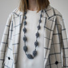 Tzuri_Gueta_handmade_jewellery_necklace_chunky_dark_grey_organic_styled_silicone_viscose_Paris_France