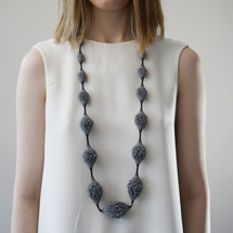Tzuri_Gueta_handmade_jewellery_necklace_chunky_dark_grey_organic_styled_silicone_viscose_Paris_France