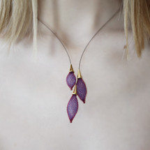 VLUM - Collier Pampille Purple Blue Statement Necklace